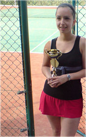 Personal training client tennis player